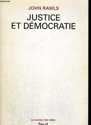 Justice et démocratie: RAWLS John