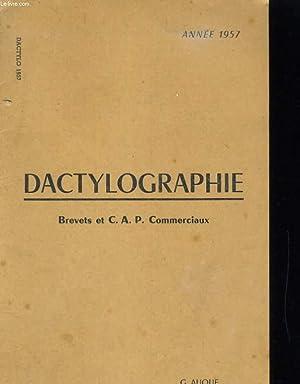 DACTYLOGRAPHIE. BREVETS ET C.A.P. COMMERCIAUX: AUQUE / MONNIOT / PAILLOT