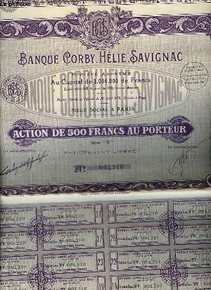1 ACTION DE 500 FRANCS AU PORTEUR - SERIE B