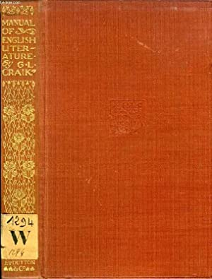 MANUAL OF ENGLISH LITERATURE (WITH SOME NEW ADDITIONS): LILLIE CRAIK GEORGE