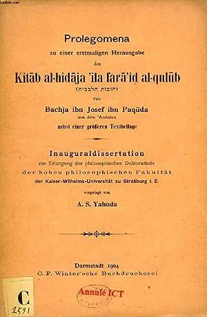 PROLEGOMENA ZU EINER ERSTMALIGEN HERAUSGABE DES KITÂB: YAHUDA A. S.