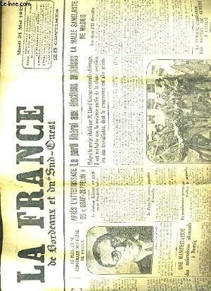 LA FRANCE DE BORDEAUX ET DU SUD-OUEST - MARDI 21 MAI 1929: COLLECTIF