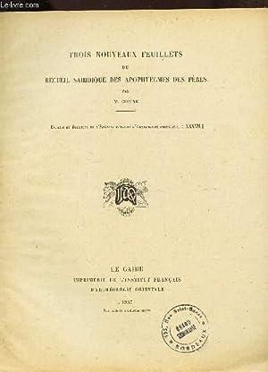TROIS NOUVEAUX FEUILLETS DU RECUEIL DES APOTRES: CHAINE M.