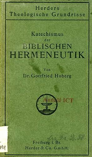 KATECHISMUS DER BIBLISCHEN HERMENEUTIK: HOBERG GOTTFRIED