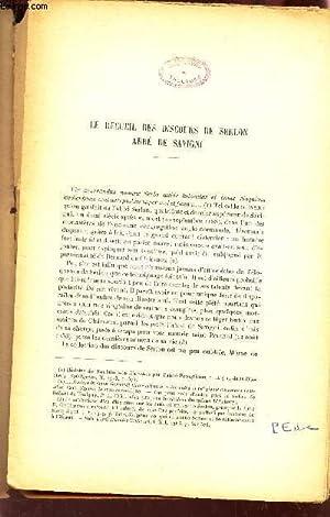 LE RECUEIL DES DISCOURS DE SERLON ABBE DE SAVIGNI / EXTRAIT de la REvue Mobillon - Tome N°45 - ...