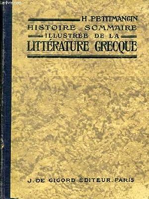 HISTOIRE SOMMAIRE ILLUSTREE DE LA LITTERATURE GRECQUE: PETITMANGIN H.