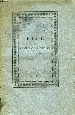 RIME DI FRANCESCO PETRARCA, VOLUME II, PARTE II: PETRARCA FRANCESCO