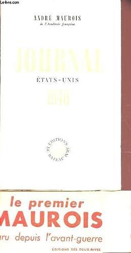 JOURNAL ETAT UNIS - 1946: MAUROIS ANDRE