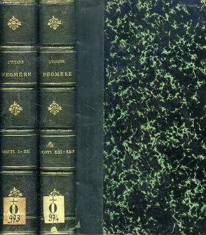 L'ILIADE D'HOMERE, TEXTE GREC, CHANTS I-XII, XIII-XXIV (2 TOMES): HOMERE, Par A. PIERRON