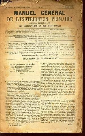 MANUEL GENERAL DE L'INSTRUCTION PRIMAIRE - 75e: COLLECTIF