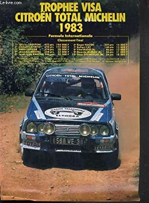 TROPHEE VISA CITROEN TOTAL MICHELIN 1983 - FORMULE INTERNATIONALE + FORMULE NATIONALE - PLAQUETTE: ...
