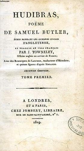 HUDIBRAS, POEME DE SAMUEL BUTLER, 2 TOMES: BUTLER SAMUEL, Par J. TOWNELEY