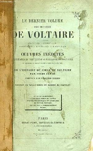 LE DERNIER VOLUME DES OEUVRES DE VOLTAIRE, CONTES, COMEDIES, PENSEES, POESIES, LETTRES, OEUVRES ...