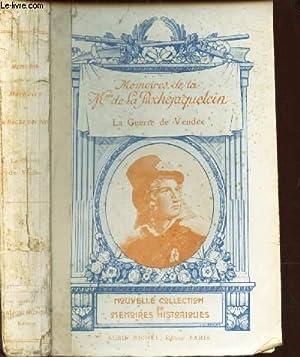 MEMOIRES DE LA MARQUISE DE LA ROCHEJAQUELEIN SUR LA GUERRE DE VENDEE.: BARON DE BARANTE