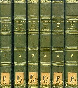 COURS DE LITTERATURE ANCIENNE ET MODERNE, 6: DASSANCE ABBE