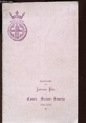 PLAQUETTE DE L'ASSOCIATION DES ANCIENNES ELEVES DU COURS SAINT-SEURIN 1931-1932: COLLECTIF