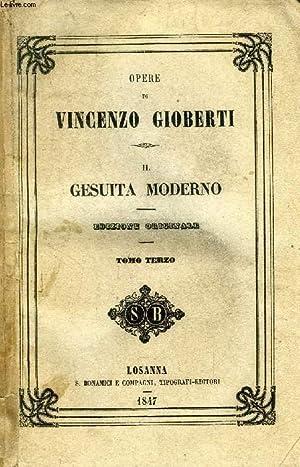 IL GESUITA MODERNO, TOMO III: GIOBERTI VINCENZO