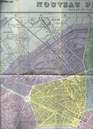 LE NOUVEAU PLAN DE PARIS - DIVISE EN 20 ARRONDISSEMENTS: COLLECTIF