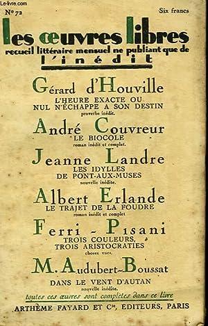 LES OEUVRES LIBRES N° 72. LE BIOCOLE: COUVREUR ANDRE, LANDRE