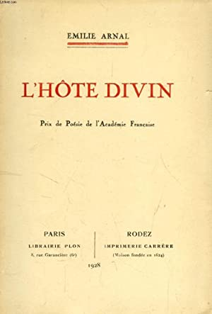 L'HOTE DIVIN: ARNAL EMILIE