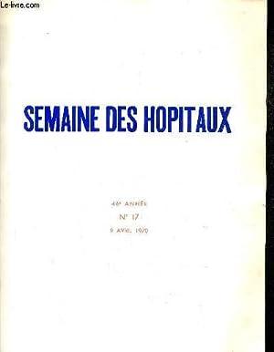 SEMAINE DES HOPITAUX DE PARIS N°17 46E: COLLECTIF