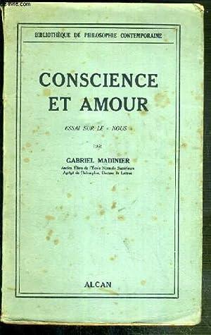"""CONSCIENCE ET AMOUR - ESSAI SUR LE """"NOUS"""" / BIBLIOTHEQUE DE PHILOSOPHIE ..."""