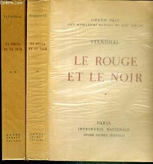 LE ROUGE ET LE NOIR - CHRONIQUE DE 1830 - 2 TOMES - 1 + 2 - 2e et 3eme VOLUMES DE LA COLLECTION DU ...