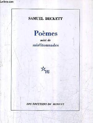 POEMES SUIVI DE MIRLITONNADES.: BECKETT SAMUEL