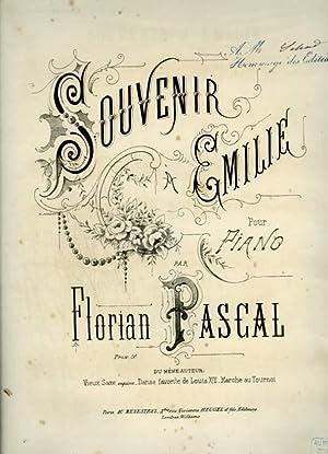 SOUVENIR A EMILE - POUR PIANO.: PASCAL FLORIAN