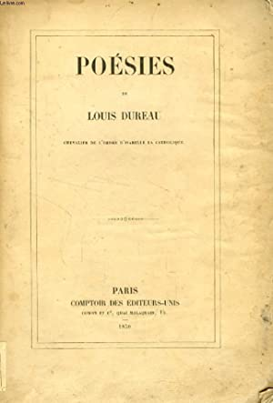 POESIES: DUREAU LOUIS