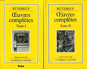 OEUVRES COMPLETES, 2 TOMES: RUTEBEUF, Par M. ZINK