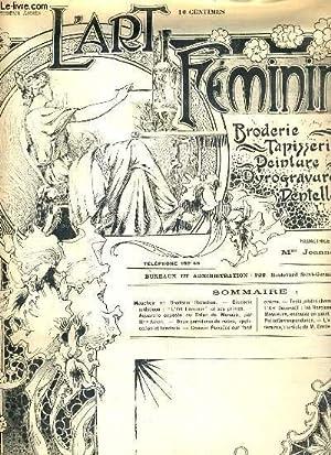 L'ART FEMININ - N° 5 - 2 FEVRIER 1902 - BRODERIE - TAPISSERIE. - mouchoir broderie ...