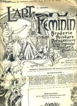 L'ART FEMININ - N° 49 - 7 DEC. 1902 - BRODERIE - TAPISSERIE. - broche en or, argent et ...