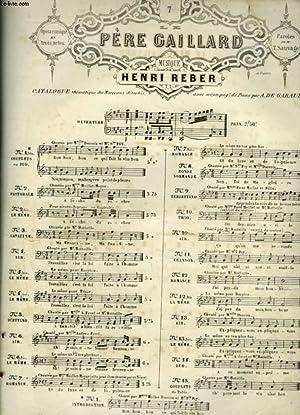 PERE CAILLARD - N°7 : POUR PIANO ET CHANT AVEC PAROLES.: REBER HENRI