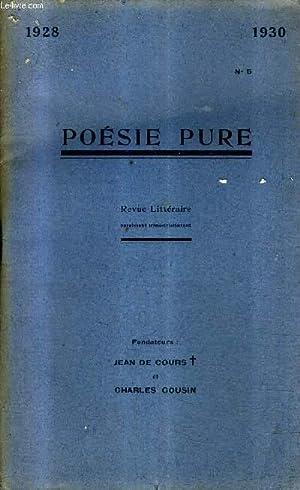 POESIE PURE N°5 1928-1930 - poèmes -: COLLECTIF
