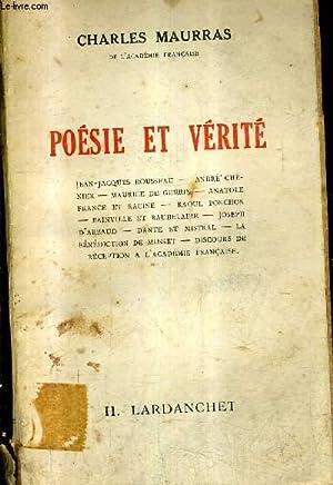 Maurras Charles Poesie Verite Jean Jacques Rousseau André
