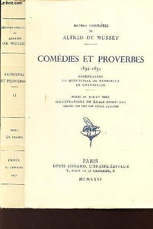 COMEDIES ET PROVERBES - 1834 - 1835: DE MUSSET ALFRED