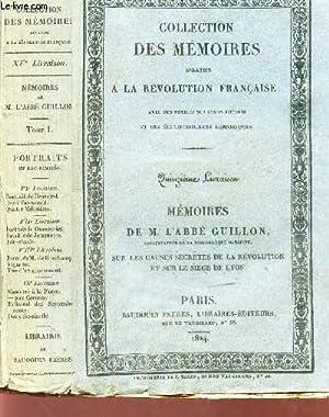 COLLECTION DES MEMOIRES RELATIFS A LA REVOLUTION FRANCAISE - QUINZIEME LIVRAISON (SUR LES CAUSES ...