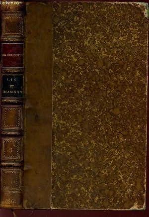LIS ET CHARDON / BIBLIOTHEQUE DES ECOLES ET DES FAMILLES / 2e EDITION: DE HOUDETOT (...