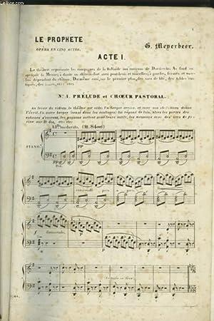 LE PROPHETE - PARTITIONS POUR PIANO ET CHOEUR AVEC PAROLES.: MEYERBEER G.