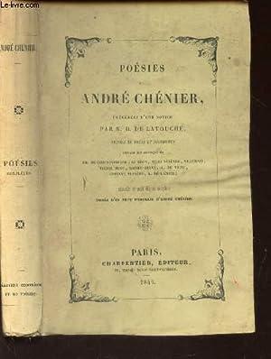 POESIES DE ANDRE CHENIER - PRECEDEES D'UNE NOTICE: CHENIER ANDRE
