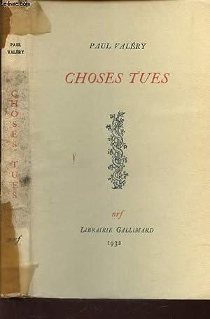 CHOSES TUES: VALERY PAUL