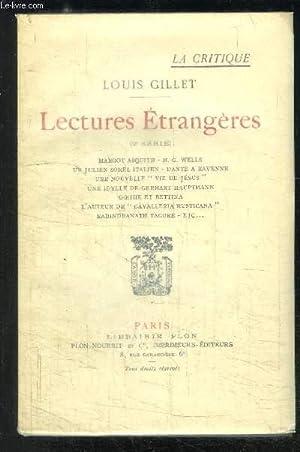 LECTURES ETRANGERES 2ème SERIE: GILLET LOUIS