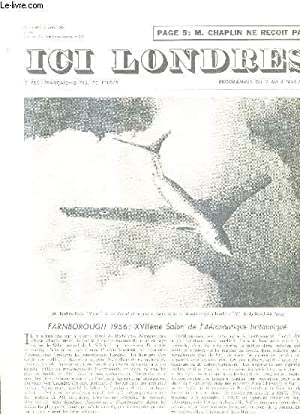 ICI LONDRES N°447 31 AOUT 1956 -: COLLECTIF