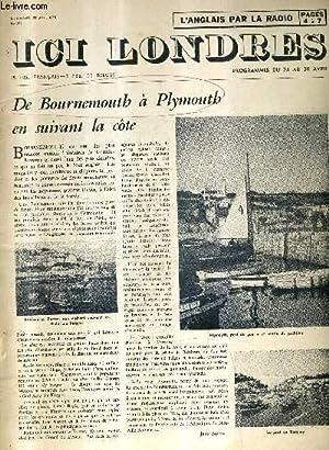 ICI LONDRES N°376 27 AVRIL 1955 - de Bournemouth à plymouth en suivant la côte - ...