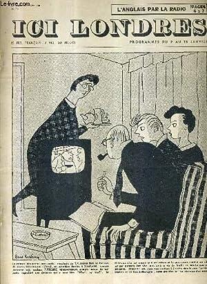 ICI LONDRES N°361 7 JANVIER 1955 - les syndicats britanniques - en suivant la légion - ...