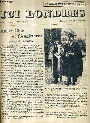 ICI LONDRES N°353 12 NOVEMBRE 1954 - andré gide et l'angleterre - ou allons nous - ...