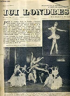 ICI LONDRES N°346 24 SEPTEMBRE 1954 -: COLLECTIF
