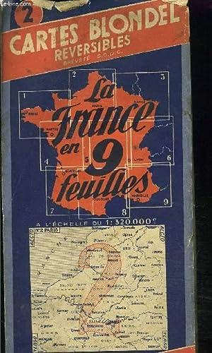 CARTE BLONDEL REVERSIBLES REGIONS N° 2: LIBRAIRIE AERONAUTIQUES