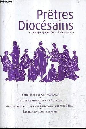 PRETRES DIOCESAINS N°1508 JUIN JUILLET 2014 -: COLLECTIF